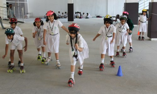 Roller Skating by students