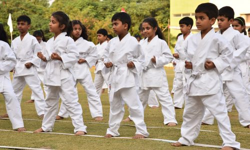 Karate Practice for Students